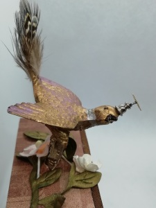 in steampunk plumage